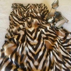 New York & Co Animal Print Maxi Skirt